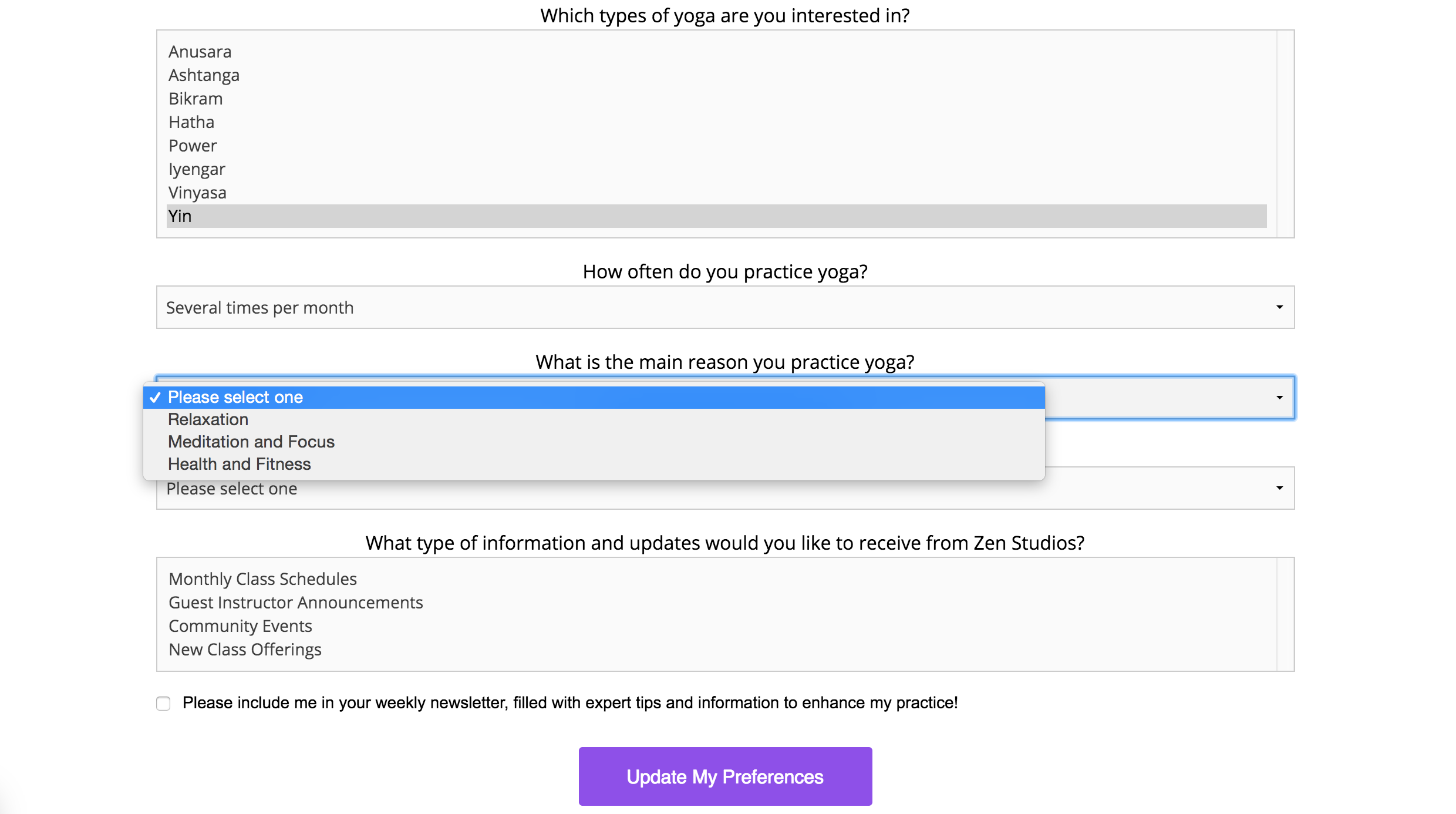 survey questions for customers that will lead to s landing page top of funnel png