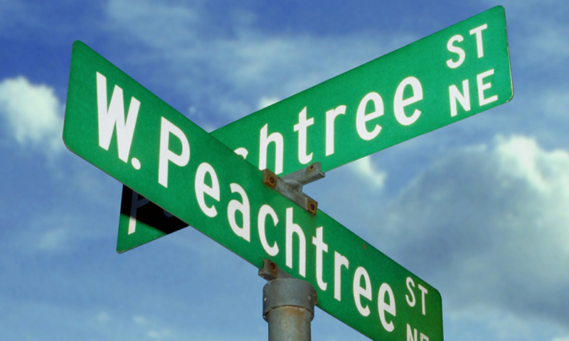"When someone says ""Peachtree Street,"" make sure you know which one. There are 71 at last count."