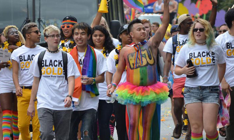 The parade is just one of many exciting events at the annual Atlanta Pride Festival.