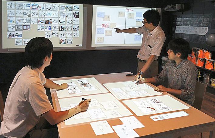 メインビジュアル : 壁や机がタッチパネルに、手書きメモがデジタル付箋に。空間をデジタル化するUI技術でコラボレーションも新しいスタイルへ!