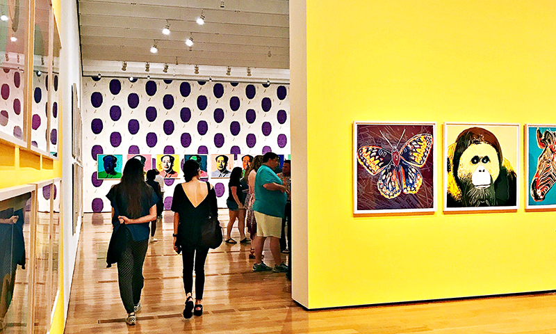 The Andy Warhol exhibit features more than 250 prints and ephemera. (Joleen Pete Photography)