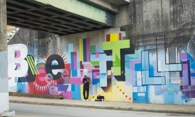 Art on the Atlanta BeltLine attracts local musicians as well.