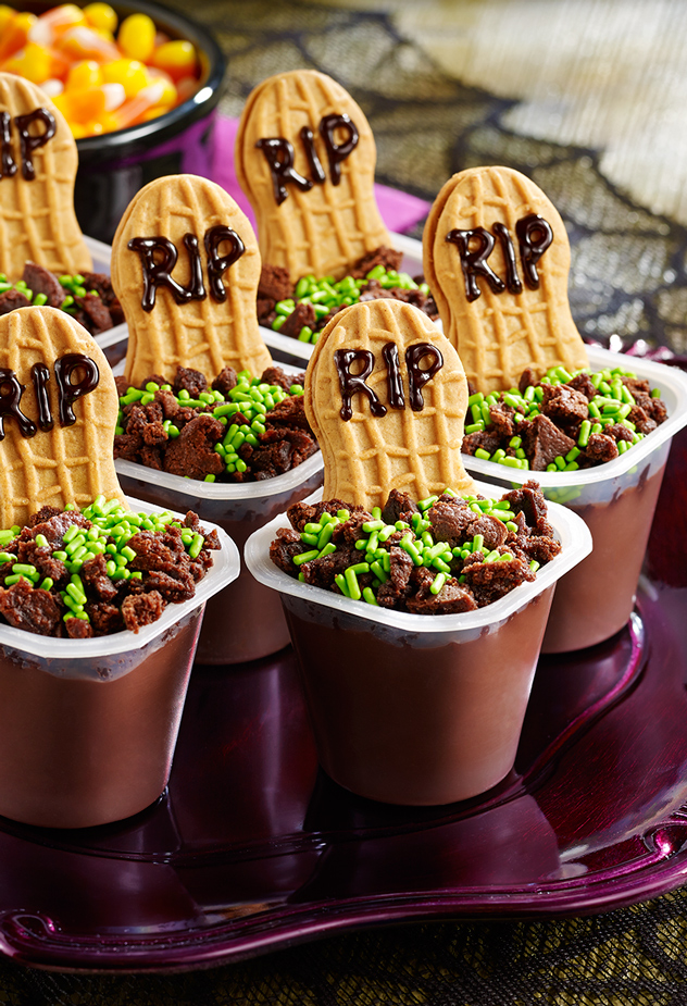 Graveyard Pudding Cups Halloween Party Recipe