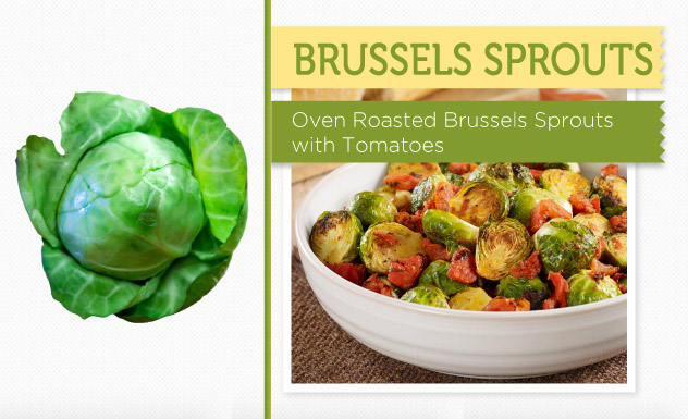 Oven Roasted Brussels Sprouts with Tomatoes Recipe