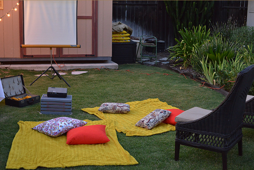 Backyard Movie Night Seating Arrangement